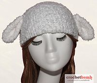 Lamb hat or bunny hat? You decide! Crochet K Boucle/Bulky