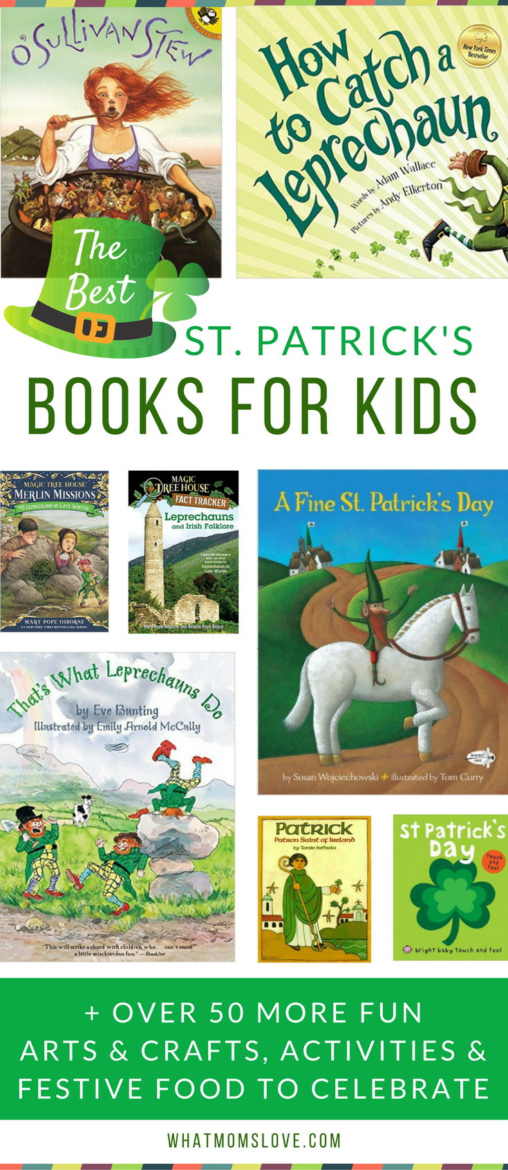 The Best St Patricks Day Books For Kids - great suggestions for Irish themed reading for toddlers, preschoolers and up! Plus fun St Pattys Day crafts, food and activity ideas!