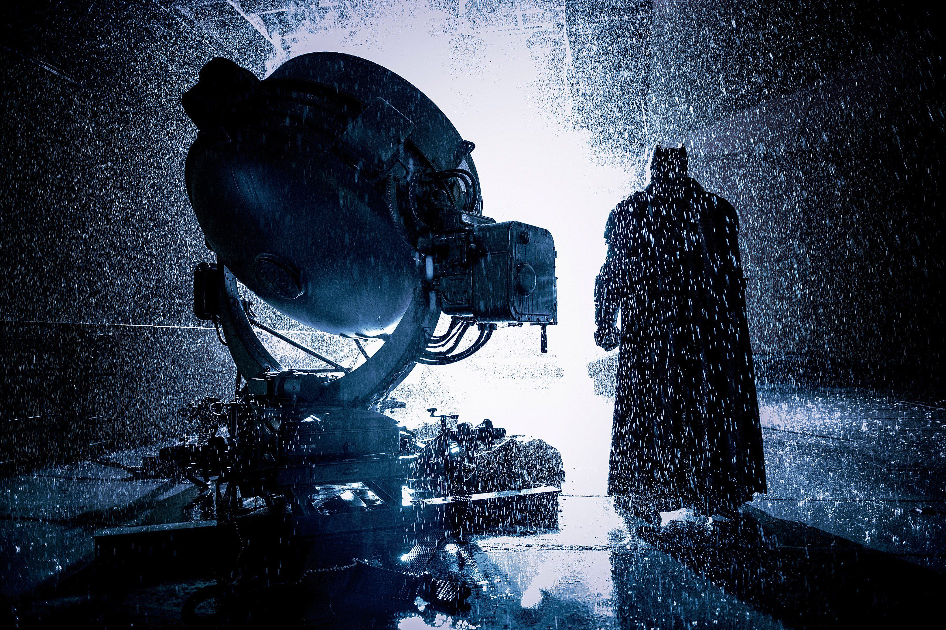 The Knight Summons A God In The Latest BTS Photo From The BATMAN V SUPERMAN: DOJ Ultimate Cut