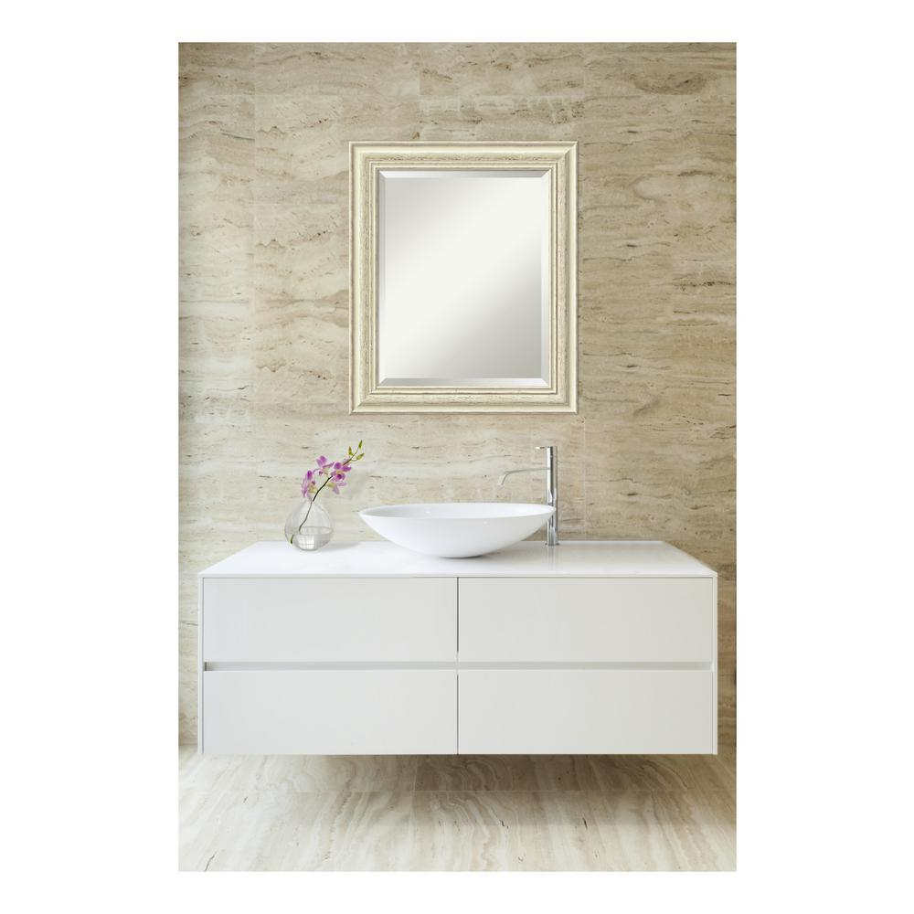Country White wash Wood 21 in. W x 25 in. H Distressed Bathroom ...
