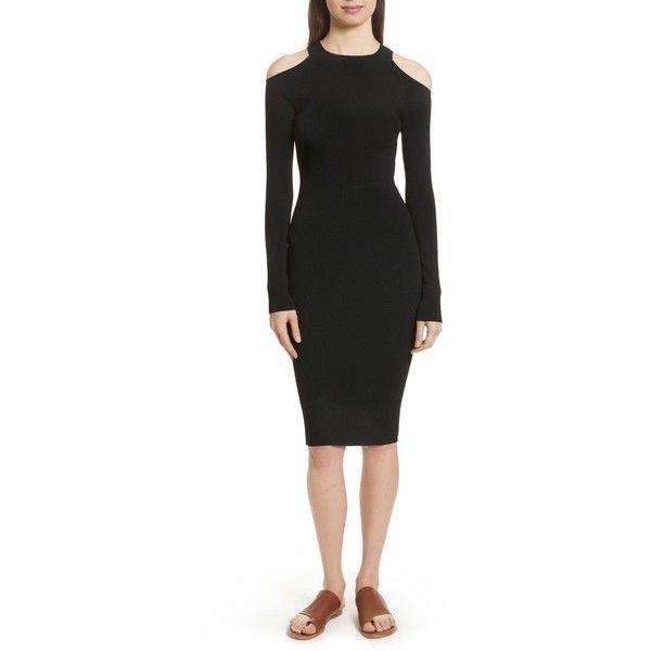 cut-out shoulder dress - Black Vince CpA4Ekrqnp
