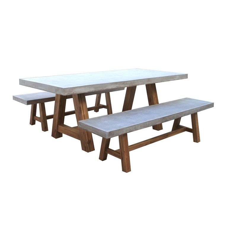 Bunnings Garden Furniture Mimosa devon setting cement wood 3 piece bunnings warehouse find mimosa 3 piece devon setting cement and wood at bunnings warehouse visit your local store for the widest range of outdoor living products workwithnaturefo