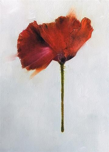 Daily Paintworks Poppy Study Pay What You Want Original Fine