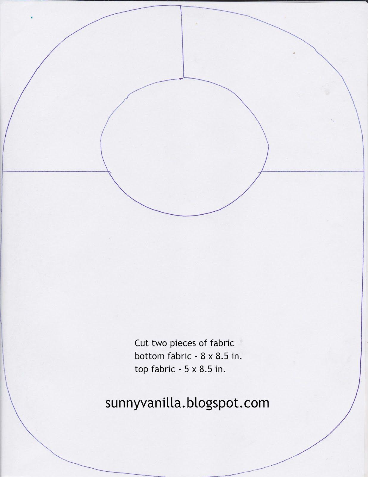 Sunny Vanilla: How to sew a bib + FREE pattern | ~ SeWiNg ~ | Pinterest