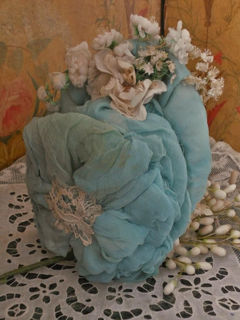 ~~~ Pretty French Bebe Silk Costume with Couture Bonnet ~~~ from whendreamscometrue on Ruby Lane