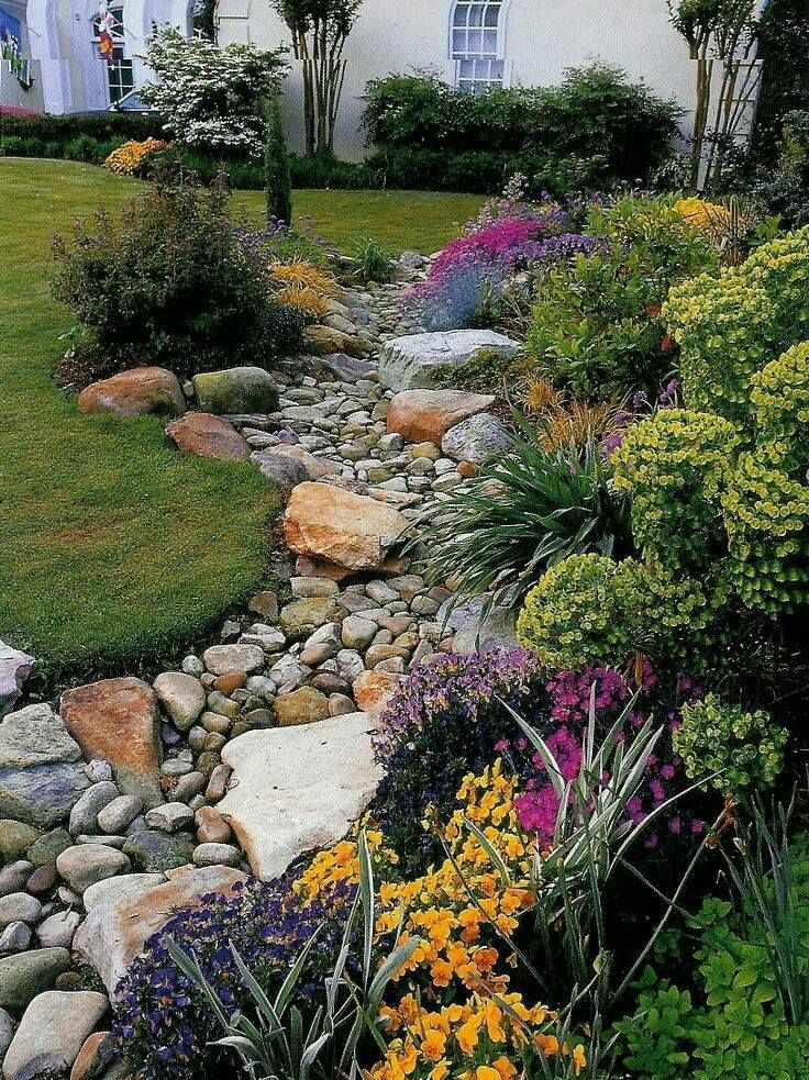 Gorgeous French Drain Rock Garden Landscaping Backyard Landscaping Backyard