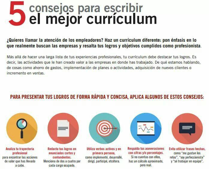 5 consejos para escribir mejor El currículum | HR | Pinterest ...