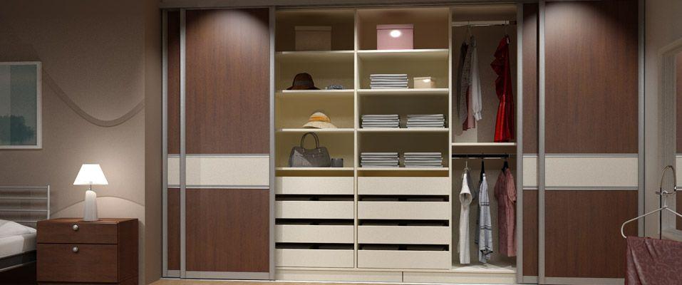 Hier Ist Eine Nische Zu Sehen Die Zu Einem Kleiderschrank Umfunktioniert Wurde Gefunden Auf Http Www Dei Kleiderschrank Kleiderschrank Schiebeturen Schrank