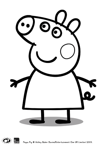 peppa pig colouring in printable bub hub - Colouring In Pics