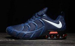 free shipping ee5f7 fdb28 Nike Air Shox KPU 2019 Navy Blue White Shox R4 Men s Athletic Running Shoes