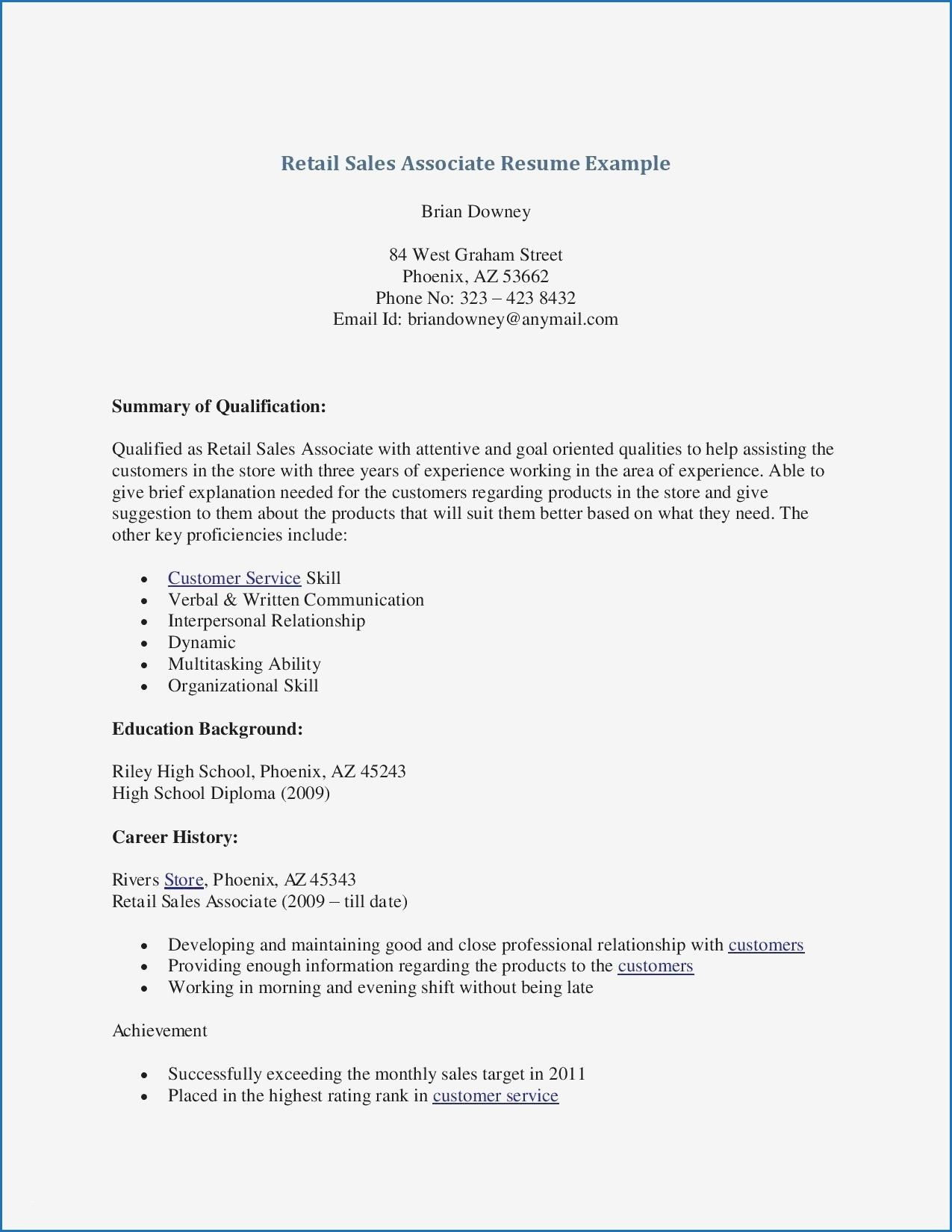 13 Resume Examples Of Sales Associates Check More At Https Www