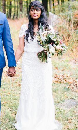 Bhldn Aurora Gown Wedding Dress Used Size 6 775 Wedding