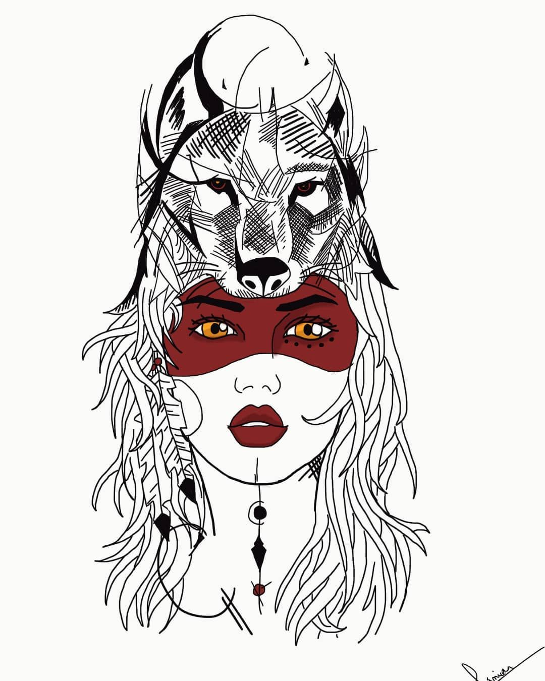Tattoo Tatuagem India Lobo Wolf Jouta Junior Massao