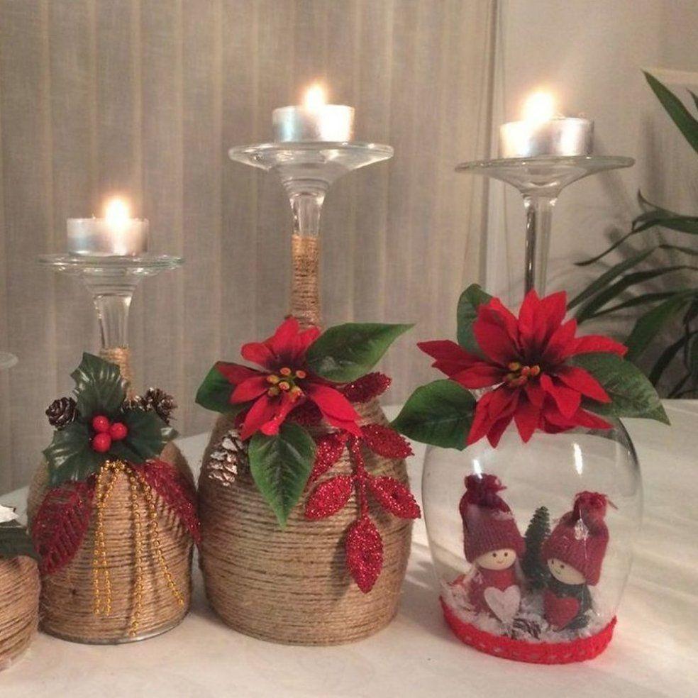 55 Cheap Diy Christmas Decorations Ideas Diy Rv Remodel Ideas Chea In 2020 Christmas Candle Decorations Christmas Wine Glass Candle Holder Cheap Christmas Diy