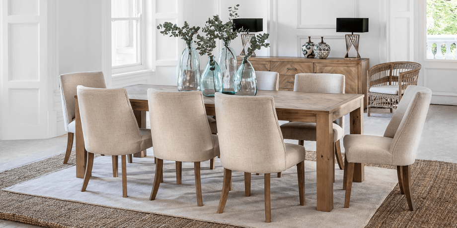 Parker Dining Table Natural 2 4m New Dining Ranges