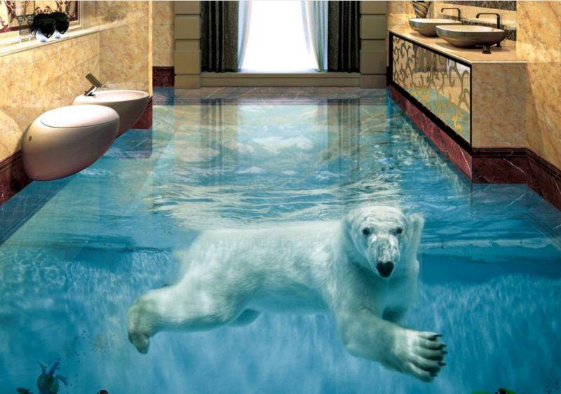 3d Fliesen Ideen Fur Das Badezimmer Badezimmer Bodenbelage Fliesen Diy Zenideen 3d Fliesen Fliesen 3d Fussboden