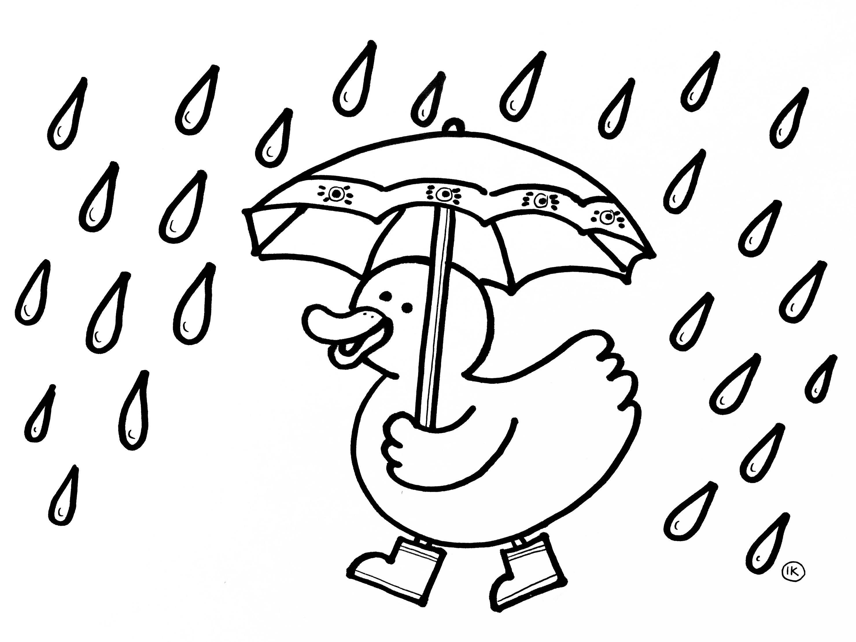 kleurplaten met thema regen kleurplaat regen