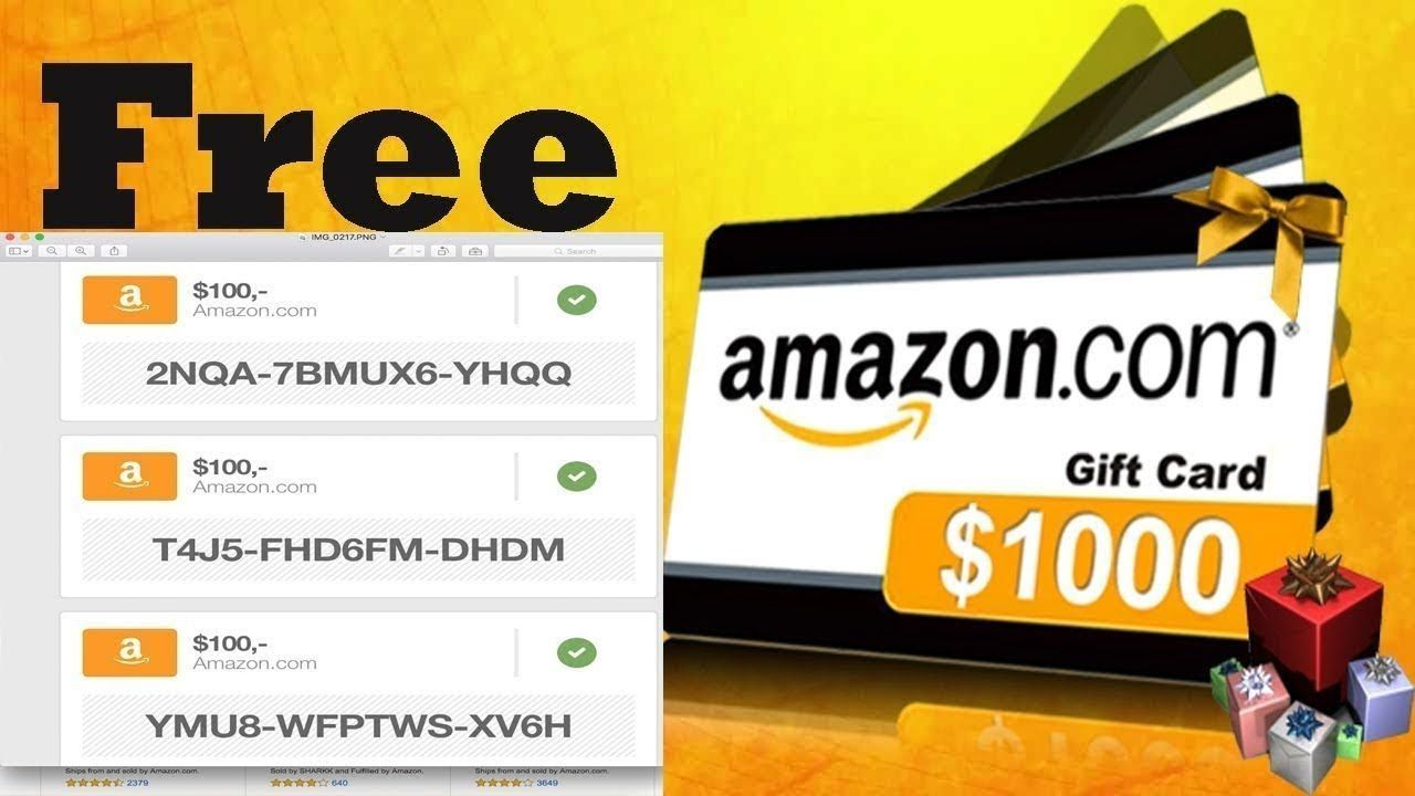 How To Get Free Amazon Gift Card Codes How To Get Amazon Promo