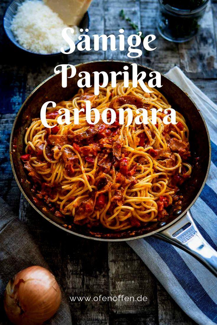 Spaghetti Paprika Carbonara | Ofen offen