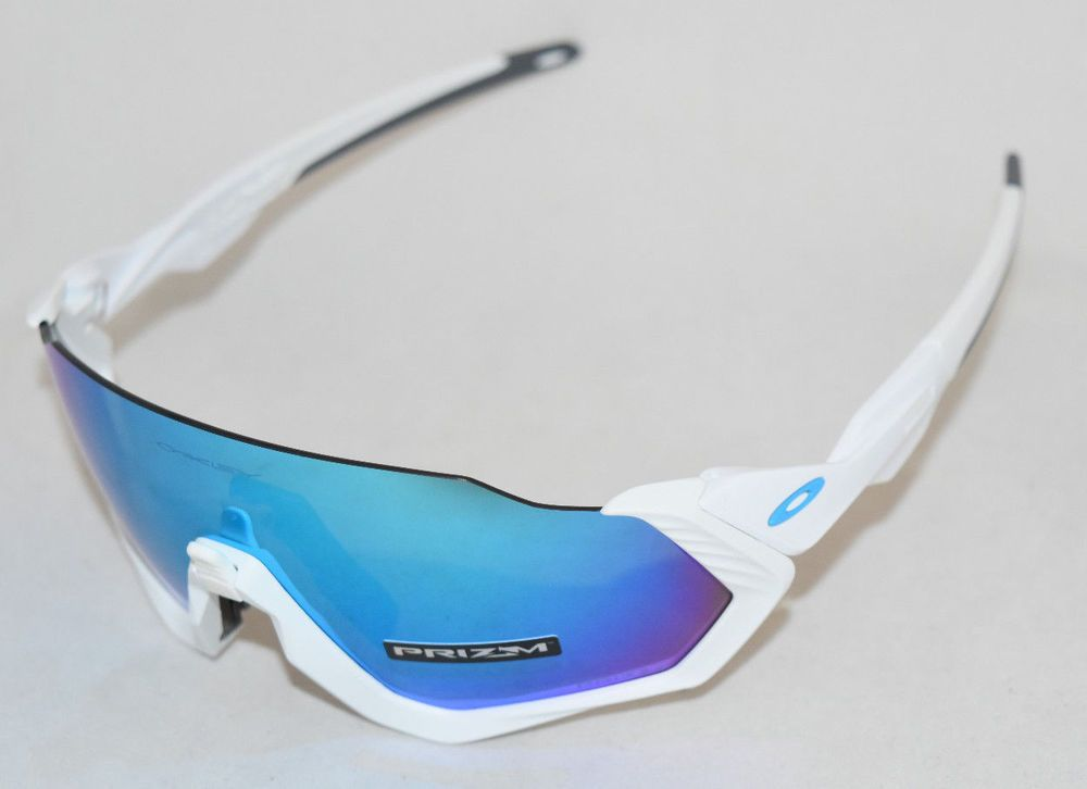 097cde781e eBay  Sponsored NEW OAKLEY FLIGHT JACKET OO9401-0237 WHITE W  PRIZM  SAPPHIRE IRIDIUM LENS