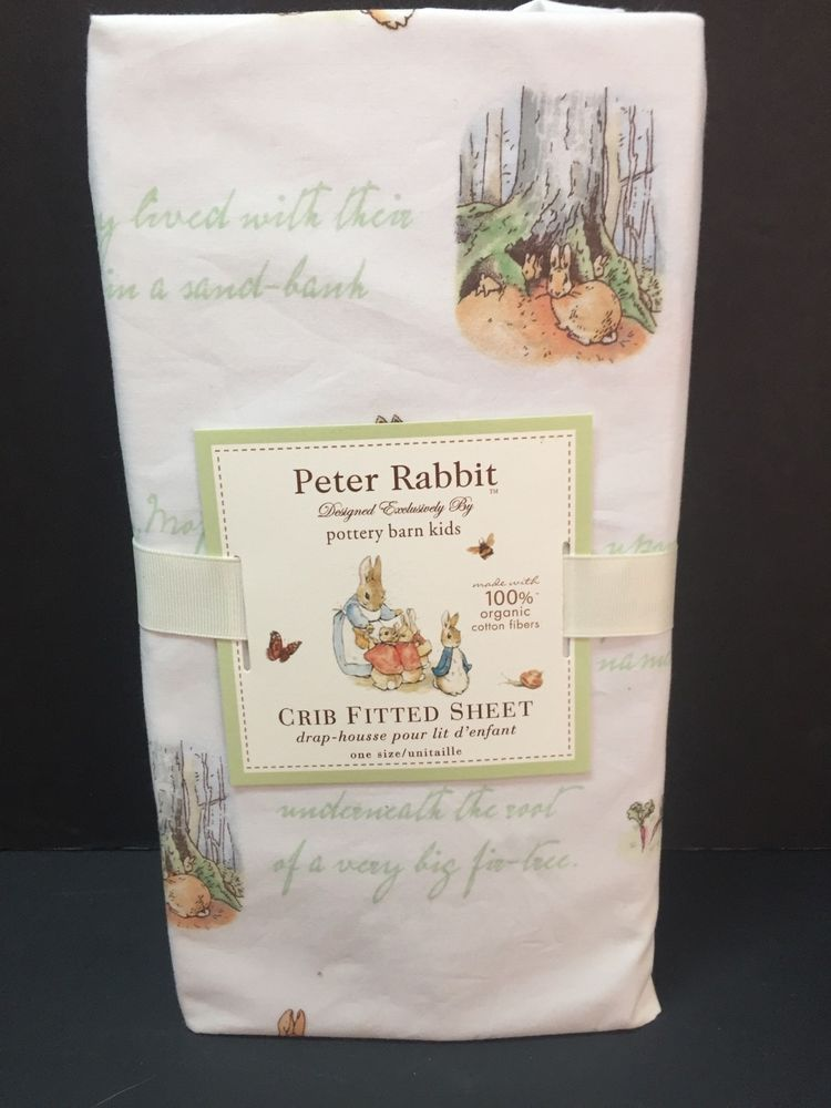 Pottery Barn Kids Crib Fitted Sheet Toddler Peter Rabbit