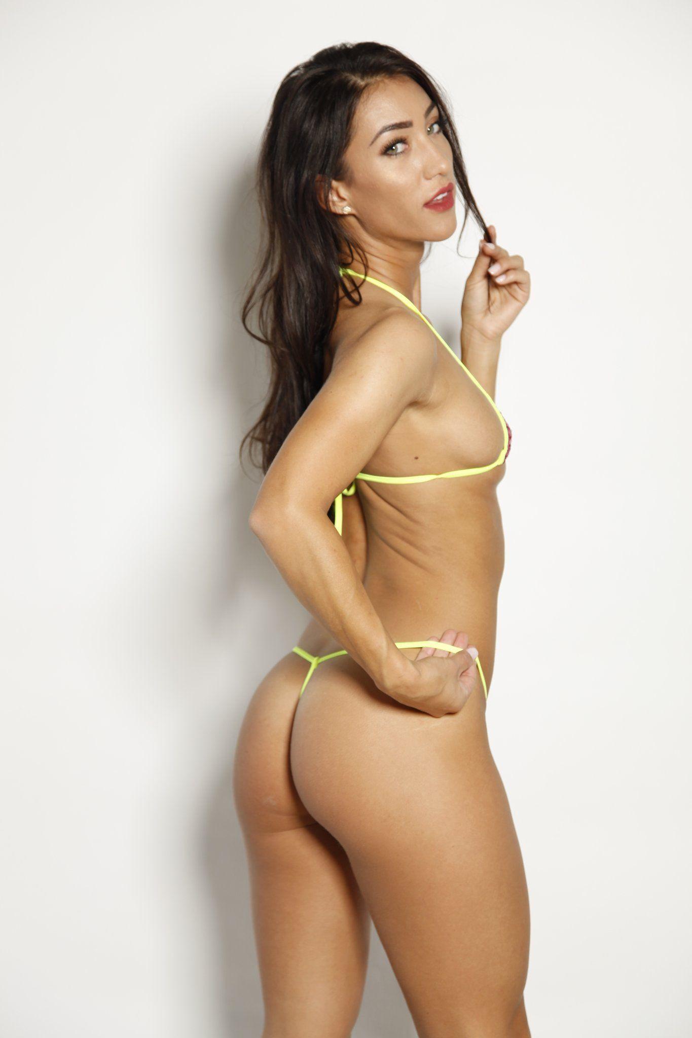 74866a22a Bitsys Bikinis Pink Sequin Yellow String Exotic Euro Style Extreme Micro  Bikini Shop Online