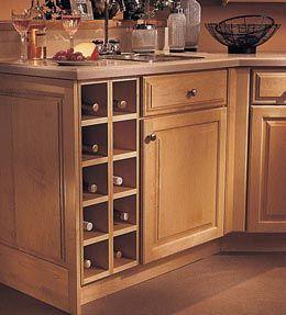 Kitchen Cabinet Wine Racks