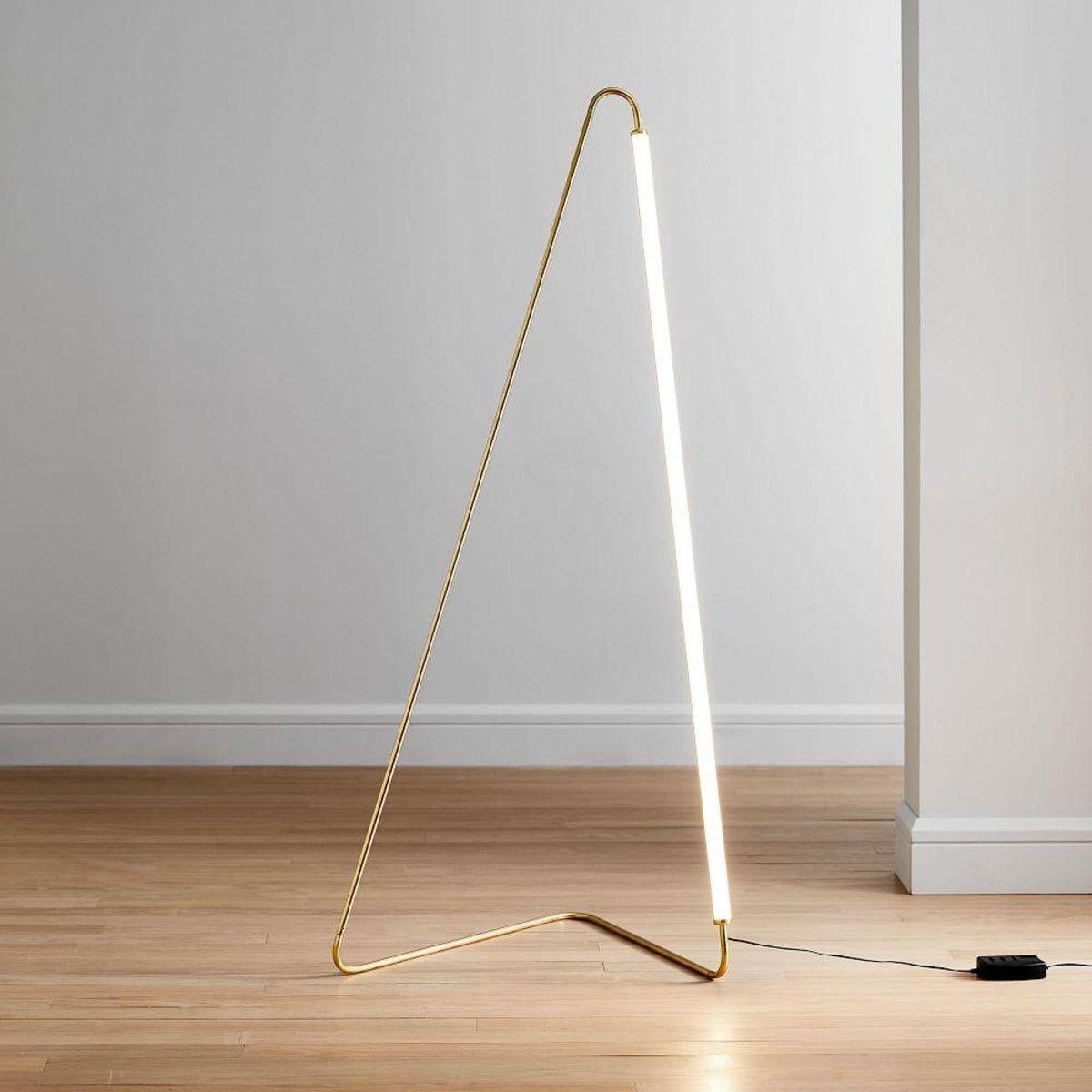 Line Art Floor Lamp West Elm Uk Led Floor Lamp Floor Lamp Line Art