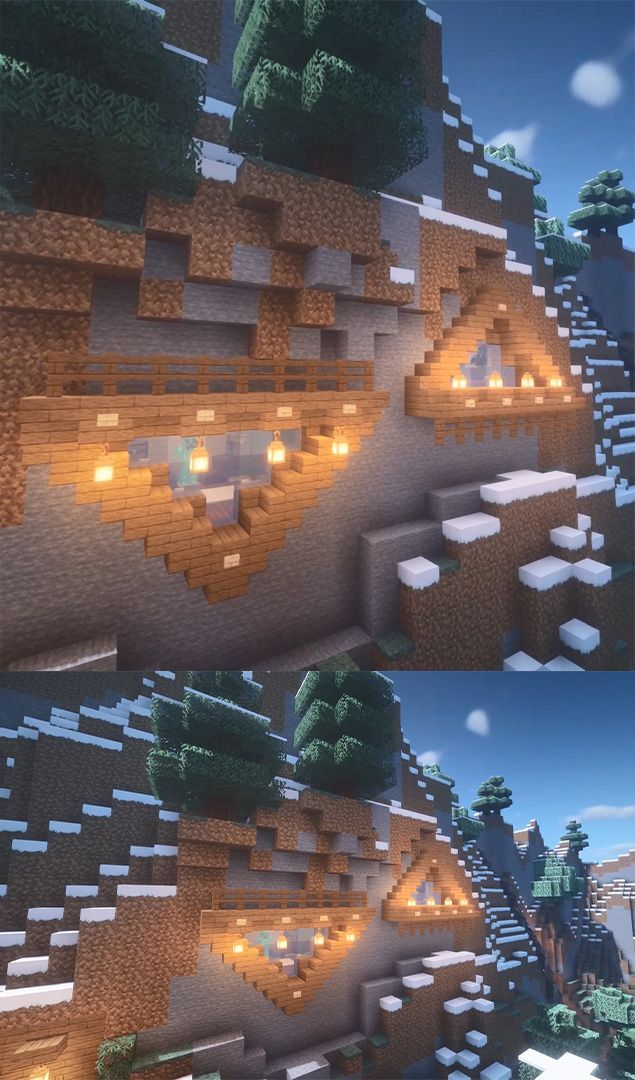 Minecraft Mountain House    Minecraft Build A House Tutorial In 2020