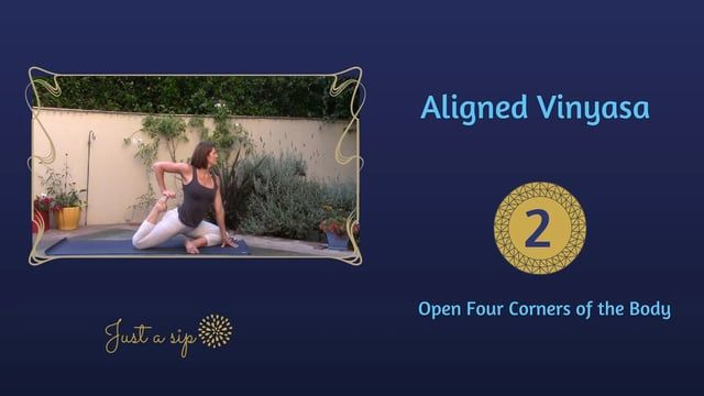 Level 1/2 This 30-minute yoga practice will open the four corners of the body (the shoulders and the hips) in a full Vinyasa flow that moves…