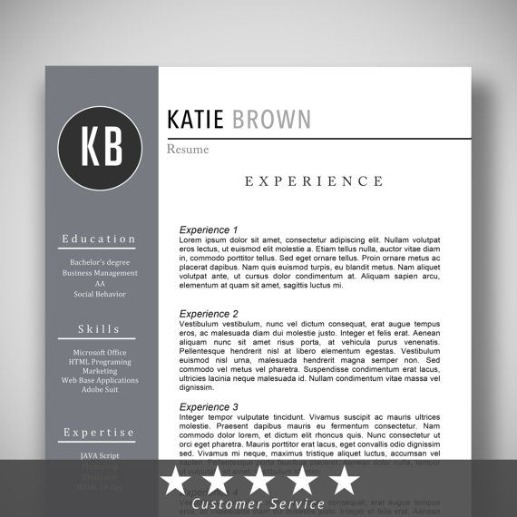 Easy-To-Use Resume Template + Cover Letter CV Template My - purpose of a cover letter for a resume