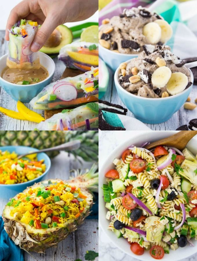 A Collage Of Vegan Summer Recipes Mouthwatering Vegan