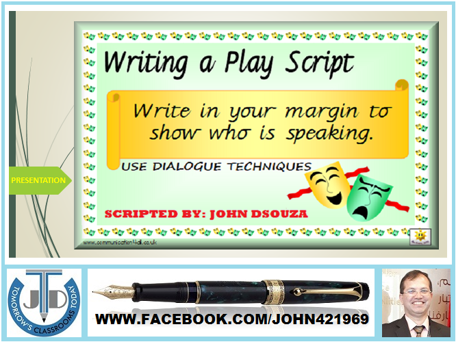 PlayScript Writing Presentation  Tes Resources Plays And