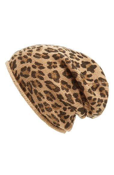 Free shipping and returns on David & Young Leopard Beanie at Nordstrom.com. Leopard print lends wild style to a cozy knit beanie.