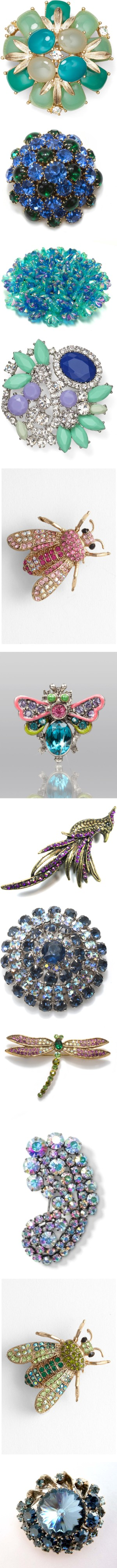 """Crystal Brooches Under $50"" by dana-peterson-forlano on Polyvore"