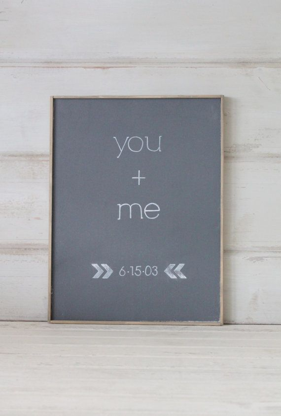 Rustic Custom Wedding SignYou  Me by cityfarmhouse on Etsy, $45.00