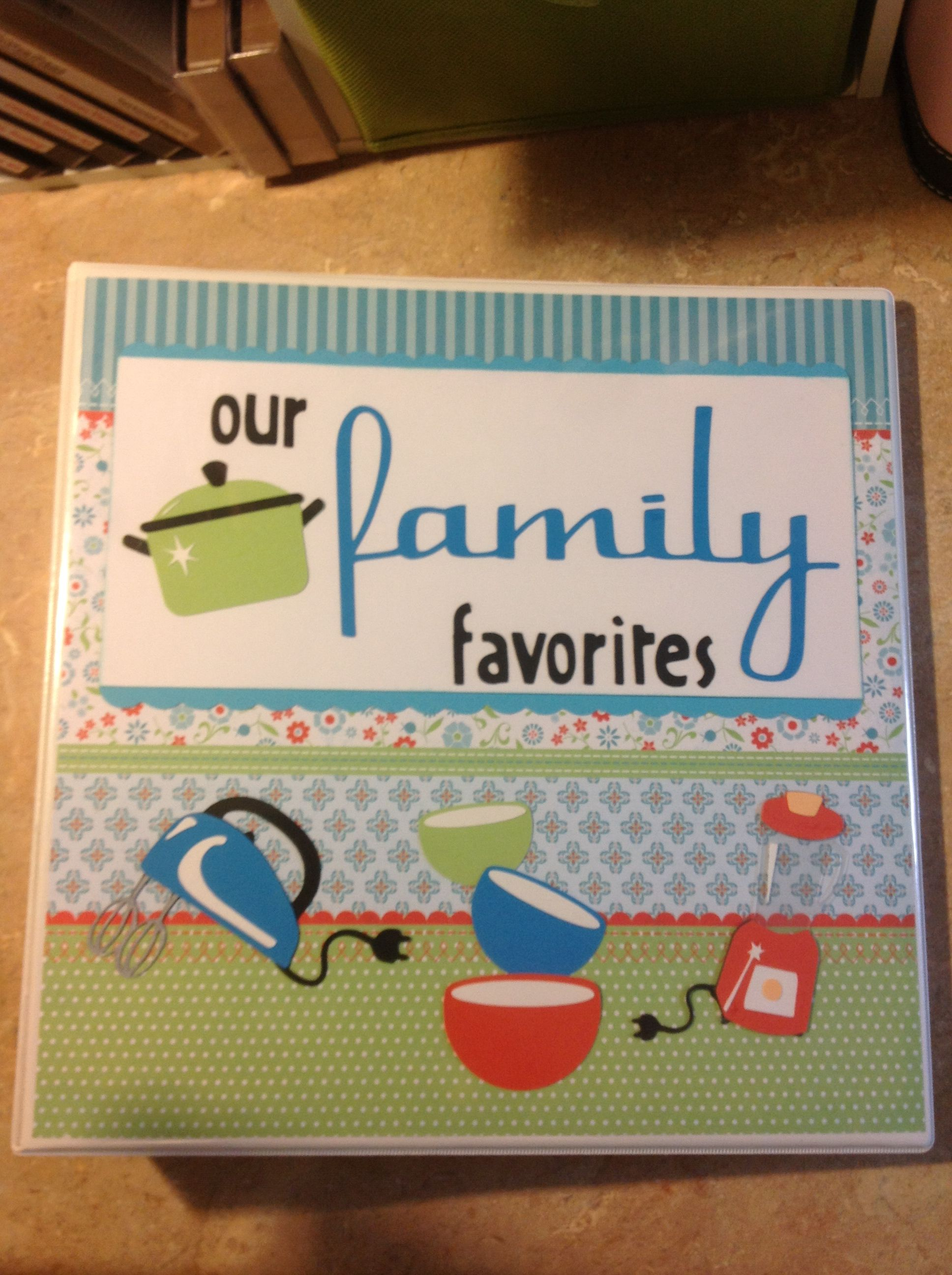 How to make scrapbook binder - Cricut From My Kitchen Great Idea To Make Recipe Binder Throw Out All The