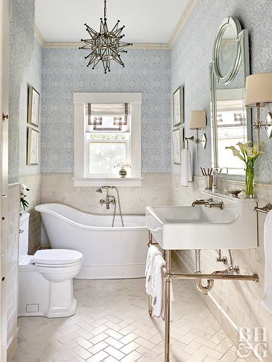 Gather some inspiration for your own bathroom makeover with these