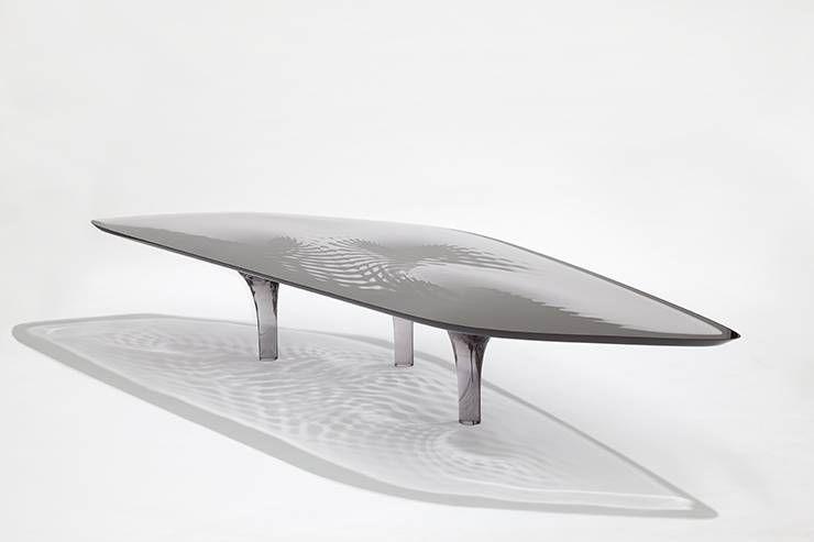 "Zaha Hadid and Patrik Schumacher Liquid Glacial ""Smoke"" Coffee Table, 2012"