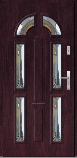Fargo 9B – stainless steel front doors with glass