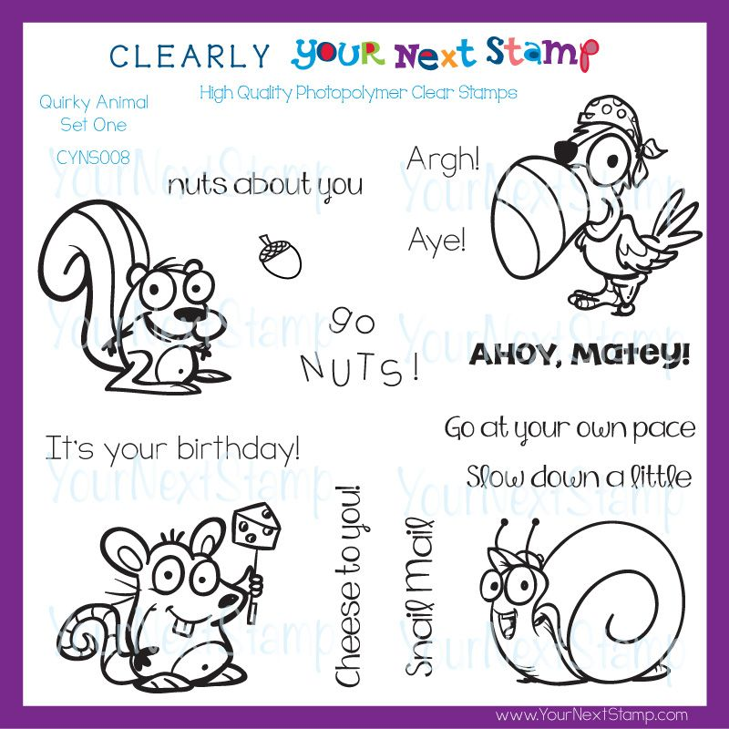 Quirky Animals Set One (clear set) [CYNS008] - USD 15.75 : Your Next Stamp