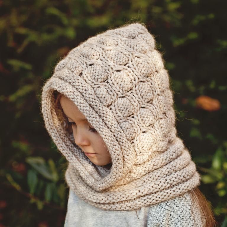 (6) Name: 'Knitting : Knitted Cocoon Hooded Cowl