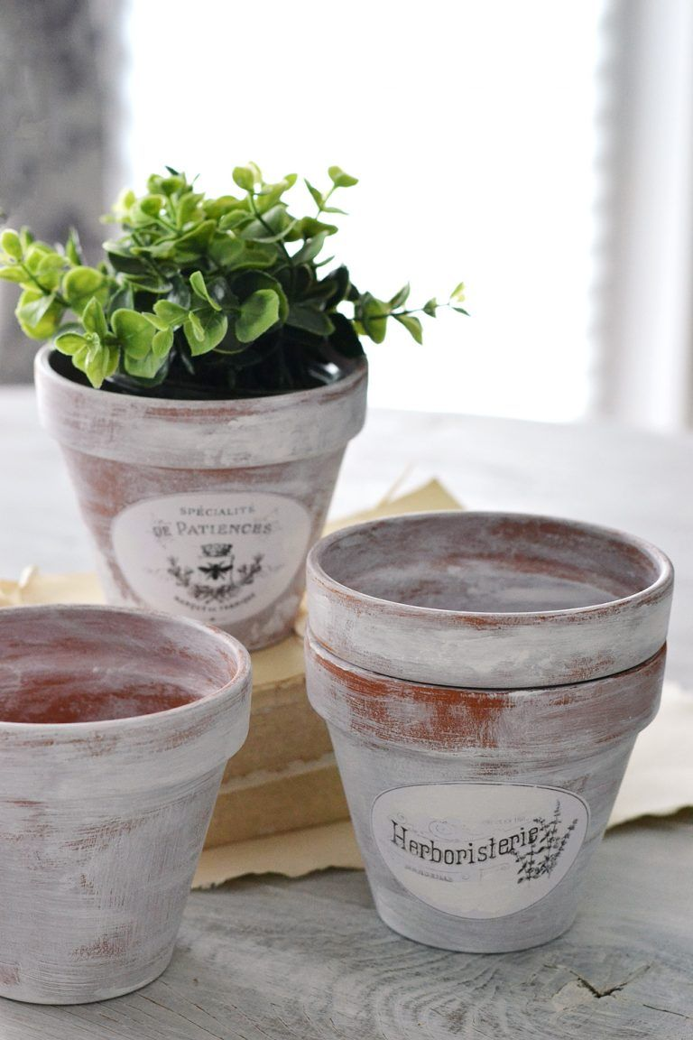 Diy Aged French Terracotta Pots Free Printable French Pot French Terracotta Pots Terracotta Pots