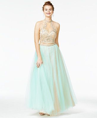 b72ab14f7e Say Yes to the Prom Juniors  2-Pc. Embellished Ball Gown