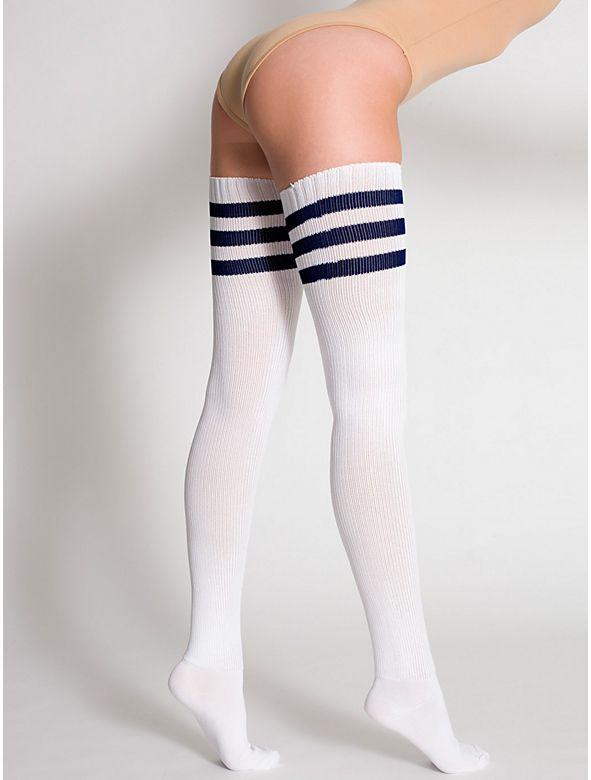 Stripe Thigh-High Socks - Stripe Thigh-High Socks Wishlist Pinterest Thigh High Socks