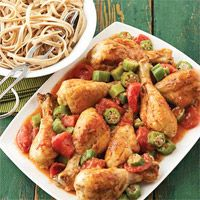 Louisiana Chicken Drumsticks And Tomatoes Recipe Diabetic