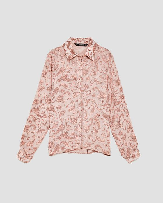 0007276b Image 8 of PAISLEY PRINT SHIRT WITH LONG SLEEVES from Zara | My ...
