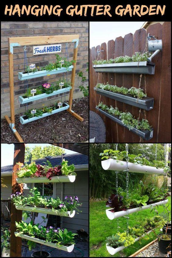 Dieser DIY hängende Gossengarten spart Ihnen viel Gartenraum! - Diyprojectgardens.club #diygarden