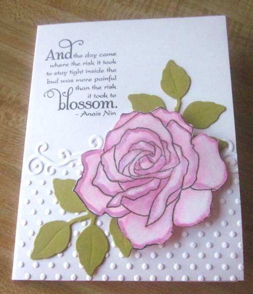 Lazylizard Splitcoast Stampers Beautiful Rose Card