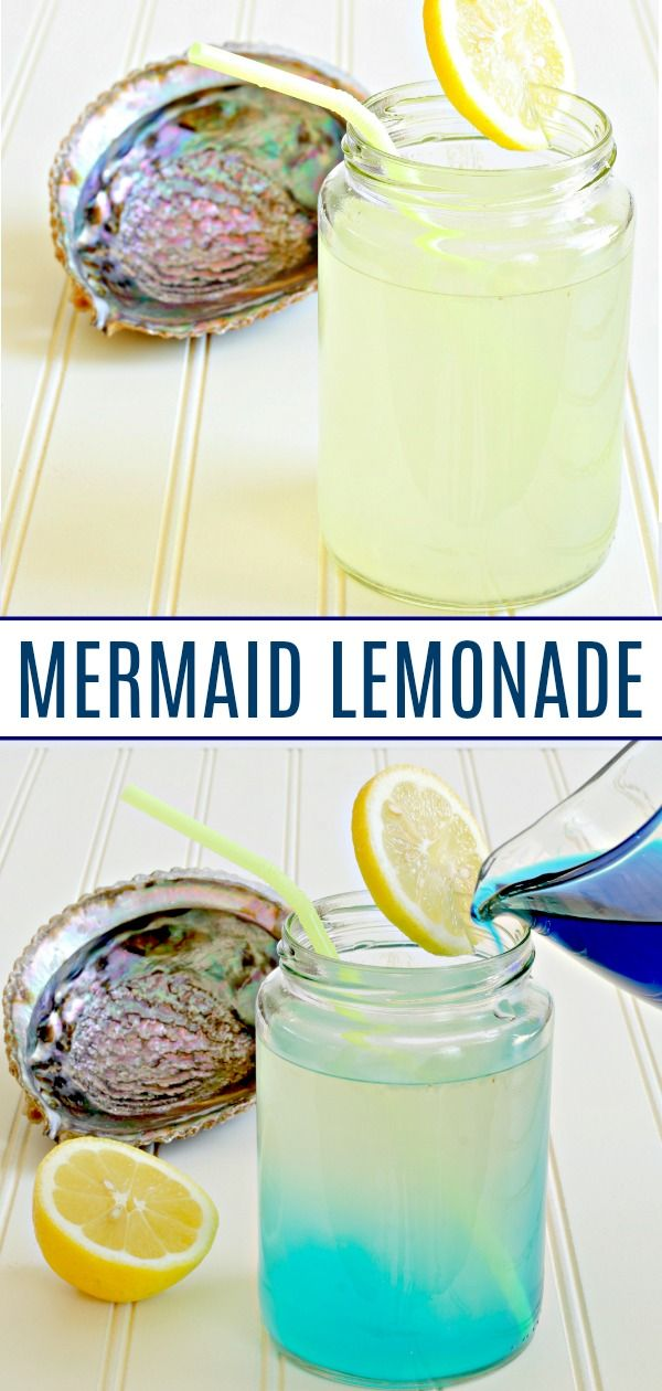 Non-Alcoholic Mermaid Lemonade #flavoredlemonade